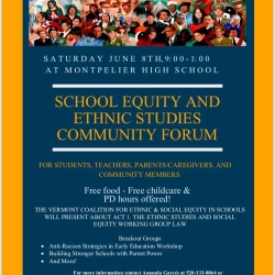 Community Forum on School Equity and Ethnic Studies